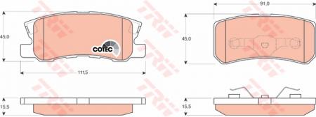 Колодки дисковые Задние, TRW, GDB3247