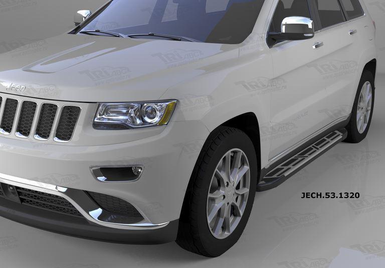 Пороги алюминиевые (Corund Silver) Jeep Gr. Cherokee (2011-) (кроме SRT), JECH531320