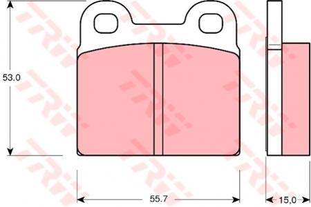 Колодки дисковые Задние, TRW, GDB102