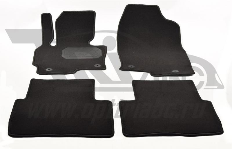 Коврики салона текстильные Mazda (Мазда) CX5(2011-) (Велюр, полиамид)(подпятник п/у)(черные), NPLVTE