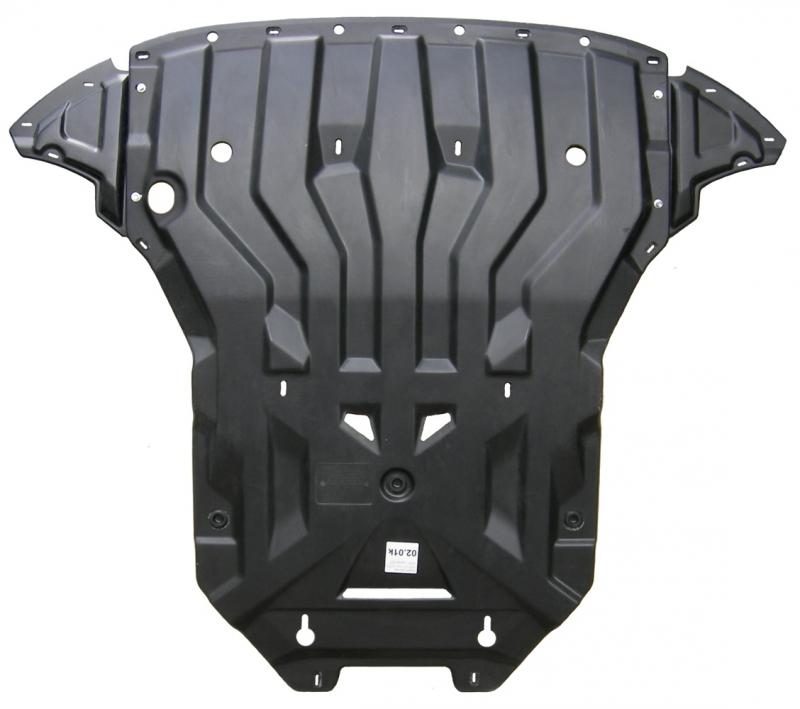 Защита картера двигателя и кпп Audi (Ауди) Q5,V-2,0; 3,0TDI (2008-) (Композит 8 мм), 0201K