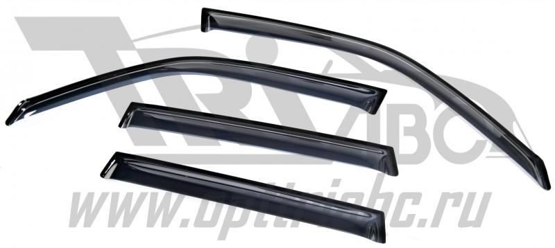 Дефлекторы боковых окон Subaru Forester (2008-2013)(4 части) (темн.), SSUFOR0832