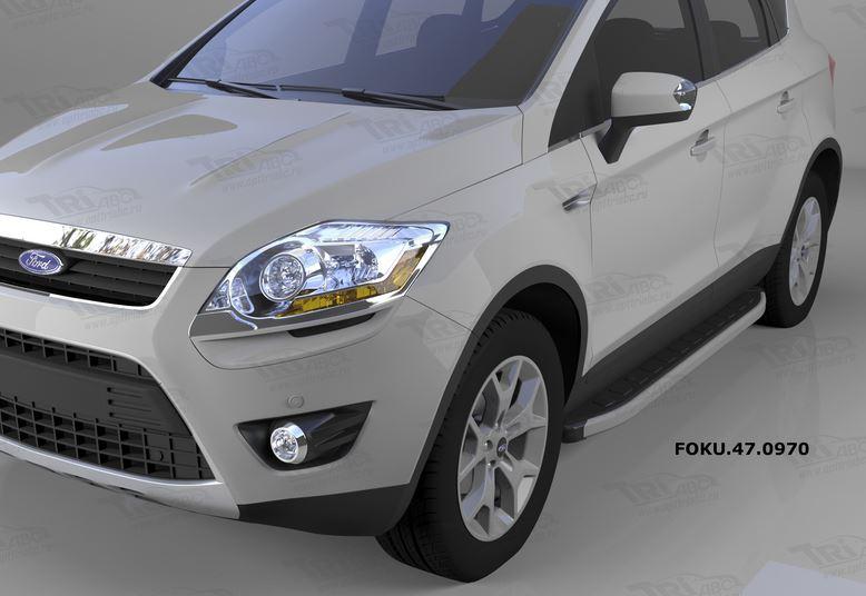 Пороги алюминиевые (Alyans) Ford Kuga (2008-2013), FOKU470970