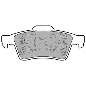 Колодки дисковые, DELPHI, LP1701