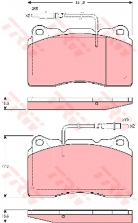 Колодки дисковые Передние, TRW, GDB1431