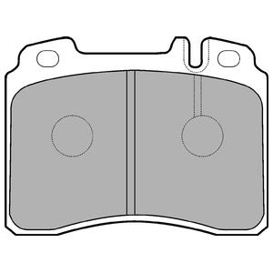 Колодки дисковые, DELPHI, LP929