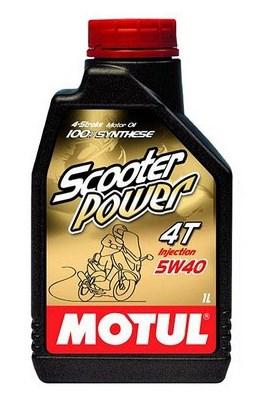 Моторное масло MOTUL Scooter Power 4T, 5W-40, 1л, 101260