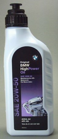 Моторное масло BMW High Power Oil, 20W-50, 1л, 81 22 9 407 685