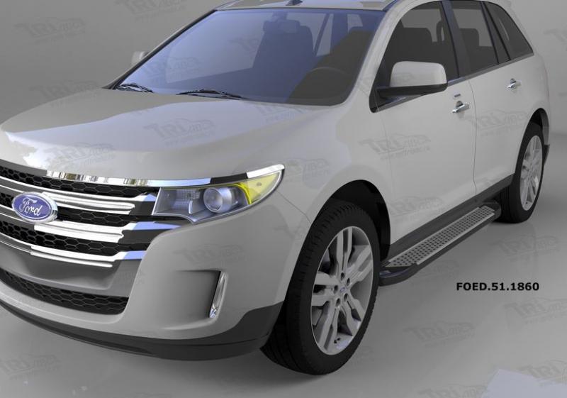 Пороги алюминиевые (Sapphire Silver) Ford Edge (2014-), FOED511860