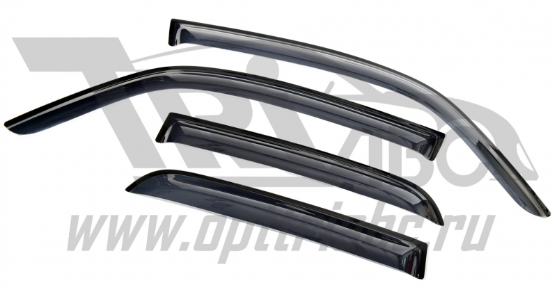 Дефлекторы боковых окон Opel Meriva (2003-2010) (4 части) (темные), SOPMER0332