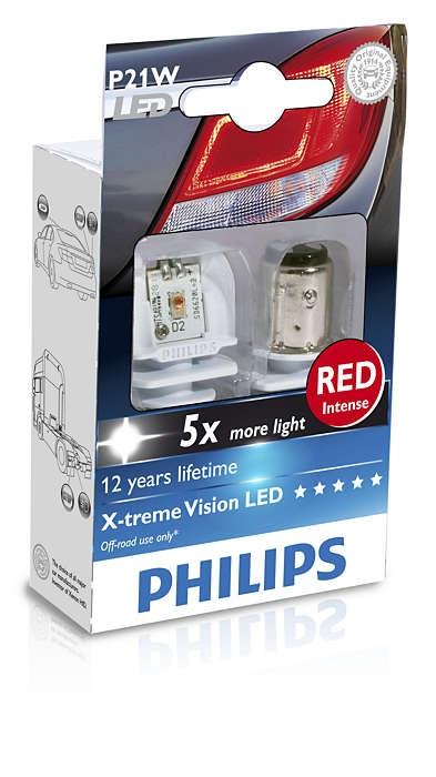 Лампа, 12 В, P21W, PHILIPS, 12898RX2