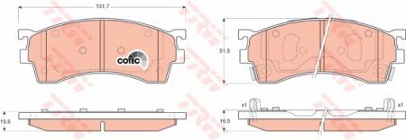 Колодки дисковые Передние, TRW, GDB3209