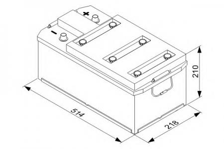 Аккумуляторная батарея Bosch T3, 12 В, 143 А/ч, 950 А, 0092T30470