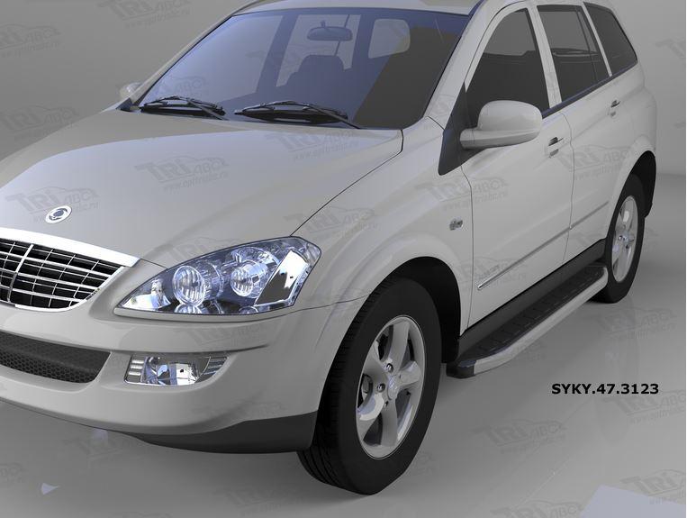 Пороги алюминиевые (Alyans) Ssang Yong Kyron (Ссанг Йонг Кайрон) (2006-), SYKY473123