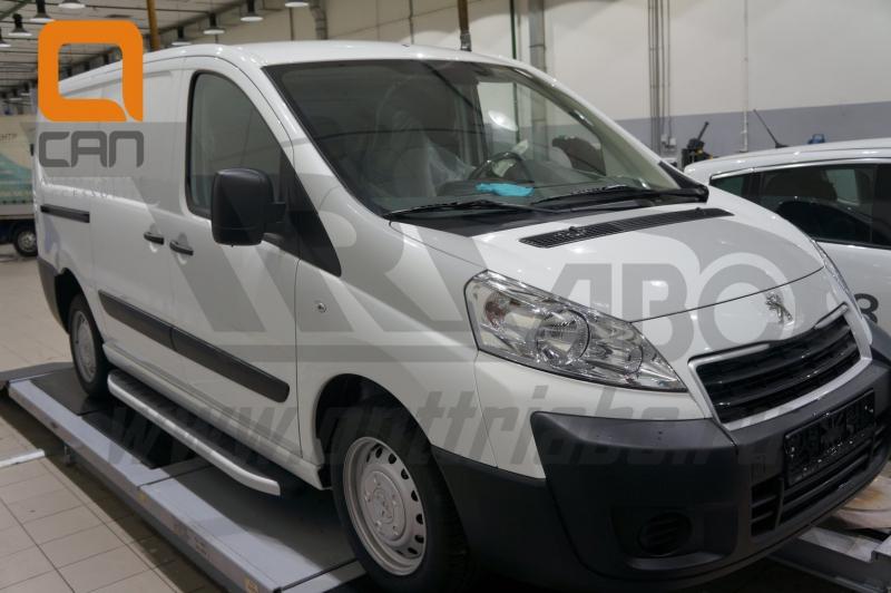 Пороги алюминиевые (Alyans) Peugeot Expert (2014-), PEEX472601