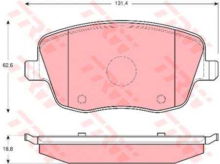 Колодки дисковые Передние, TRW, GDB1414