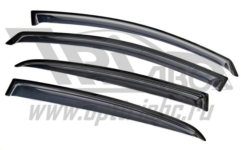 Дефлекторы боковых окон Opel Corsa (Опель Корса) D, Хэтчбек (2007-)(5дв)(4части)(темные), SOPCOH5073