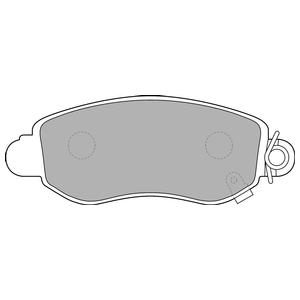 Колодки дисковые, DELPHI, LP1582