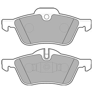 Колодки дисковые, DELPHI, LP1657