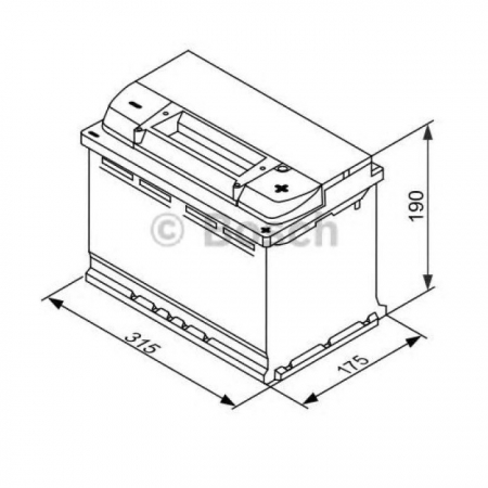 Аккумуляторная батарея Bosch S5 EFB, 12 В, 80 А/ч, 730 А, 0092S5E110
