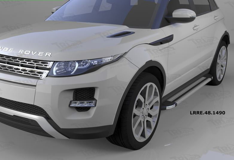 Пороги алюминиевые (Brillant) Land Rover Evoque (2011-) кроме к-ции Dynamic (серебр), LRRE481490