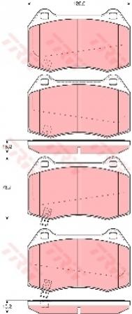 Колодки дисковые Передние, TRW, GDB3381