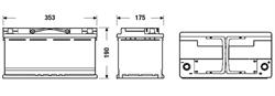 АКБ AGM 95Ah 850A 353x175x190 (-+)