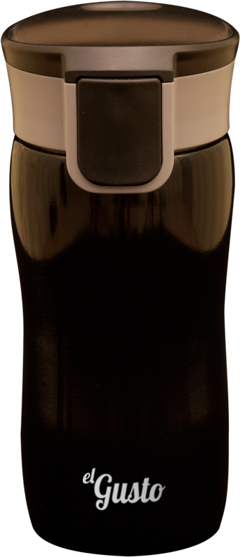 Термокружка el GUSTO Corsa, черная, 350 мл, 216B