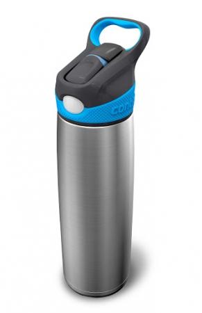 Термобутылка-автооткрывашка с носиком Sheffield, сереб-голубой, 650 мл, 10000091