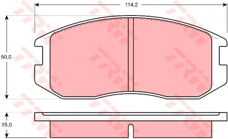 Колодки дисковые Передние, TRW, GDB1129