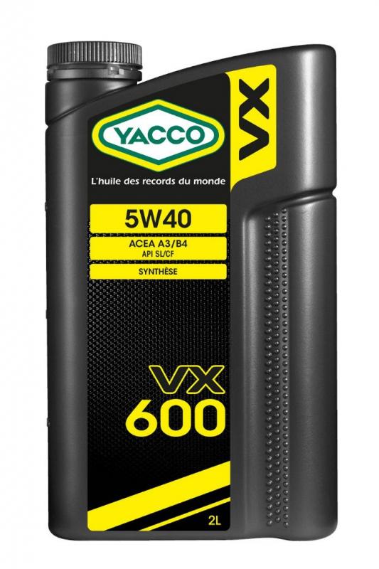 Масло моторное YACCO VX 600 синт. 5W40,SL/CF (2 л)