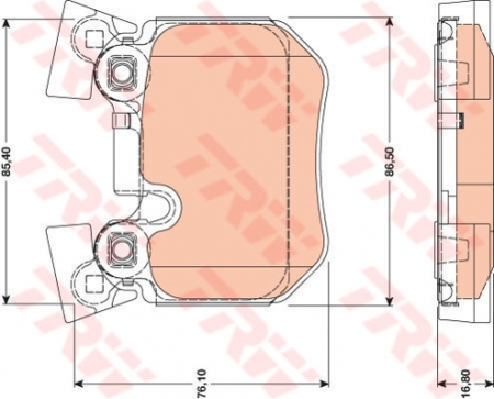 Колодки дисковые Задние, TRW, GDB1795