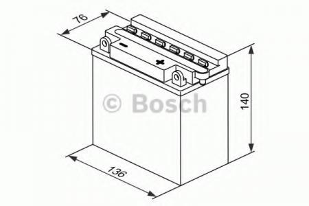 Аккумуляторная батарея Bosch Funstart FreshPack, 12 В, 9 А/ч, 80 А, 0092M4F260