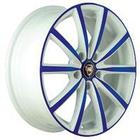 Колесный диск NZ F-50 6.5x16/5x112 D57.1 ET33 белый +синий (W+BL)
