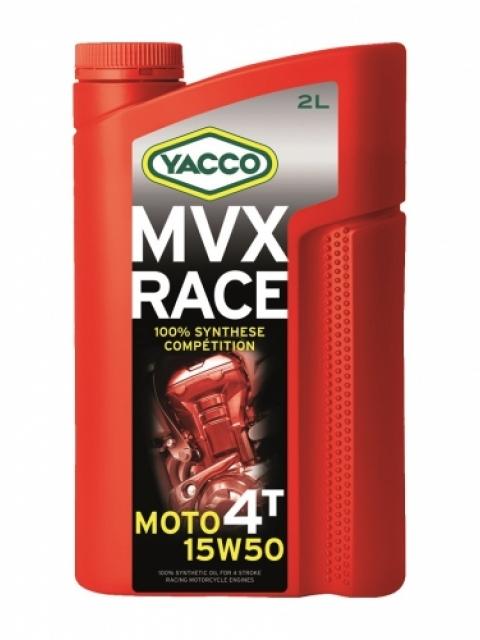 Масло для 4-тактных двигателей спортивных мотоциклов YACCO MVX RACE 4T синт. 15W50, (2 л)