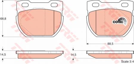 Колодки дисковые Задние, TRW, GDB1209