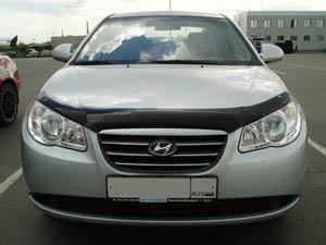 Дефлектор капота Hyundai Elantra (2007-), SHYELA0712