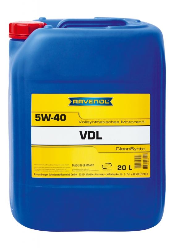 Моторное масло RAVENOL VDL, 5W-40, 20 л, 4014835723726