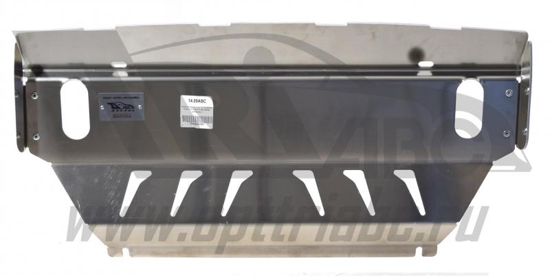 Защита радиатора Mitsubishi Pajero (Митсубиши Паджеро) IV V-3,0; 3,2D (2006-) (Алюминий 4 мм), 1409A