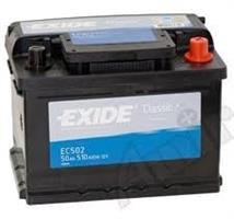 Аккумулятор EXIDE CLASSIC 12V 50AH 510A ETN 0(R+) B13 242x175x175mm 13.34kg
