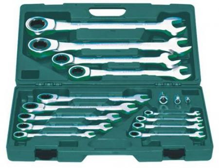 W45117S Набор ключей комбинированных трещоточных 8-32 мм, 17 предметов