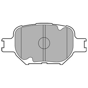 Колодки дисковые, DELPHI, LP1804