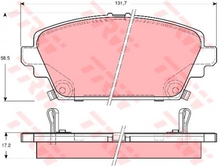 Колодки дисковые Передние, TRW, GDB3186