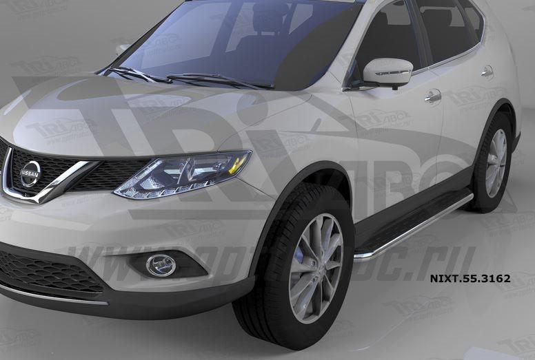 Пороги алюминиевые (Ring) Nissan X-Trail (2014-), NIXT553162