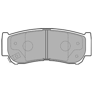 Колодки дисковые, DELPHI, LP2049