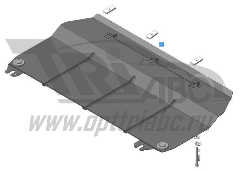 Защита картера двигателя, КПП Haval H2 2015-н.в.V=1,5i АКПП(сталь 2 мм), MOTODOR63103