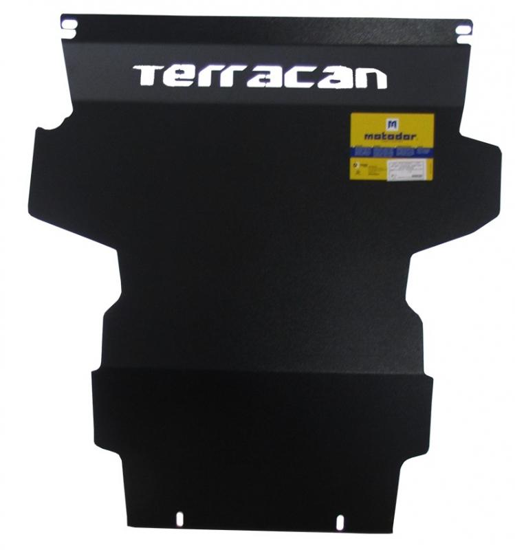 Защита картера двигателя, ПДФ Hyundai Terracan 2001-2006 (сталь 2 мм), MOTODOR00920