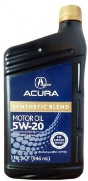Моторное масло HONDA ACURA Synthetic Blend, 5W-20, 1л, 08798-9033