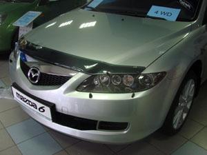 Дефлектор капота Mazda (Мазда) 6 (2003-2009) (темный), SMAMA60512