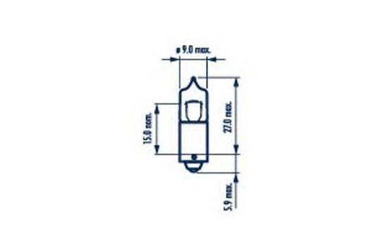 Лампа NARVA, 12 В, 6 Вт, BAX9s, 68162
